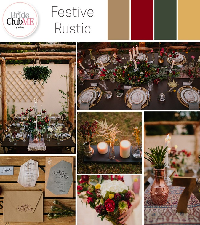 Wedding Colour Scheme { Festive Rustic }