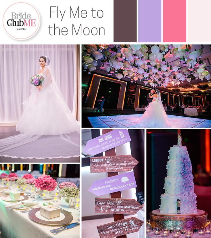 Wedding Colour Scheme { Fly Me To The Moon }