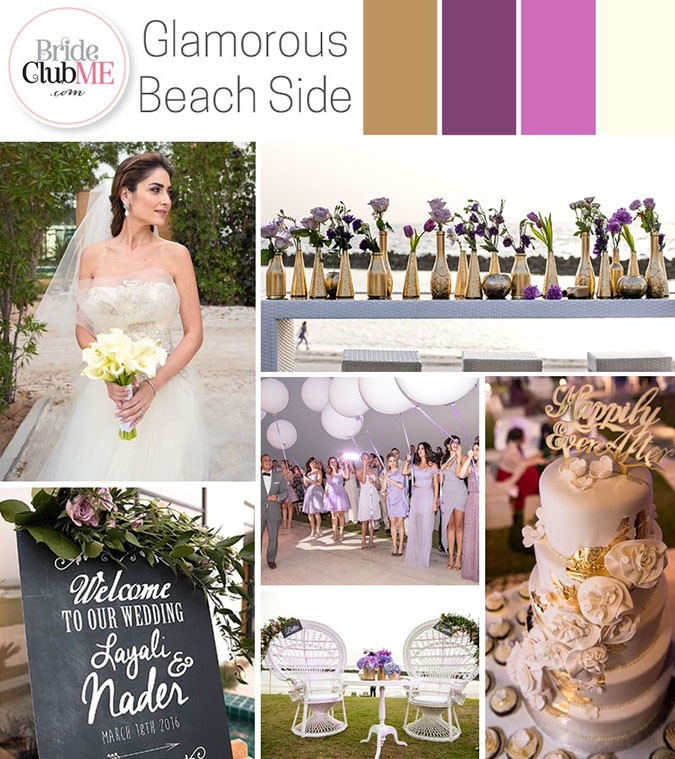 Glamorous Beachside Wedding Colour Scheme