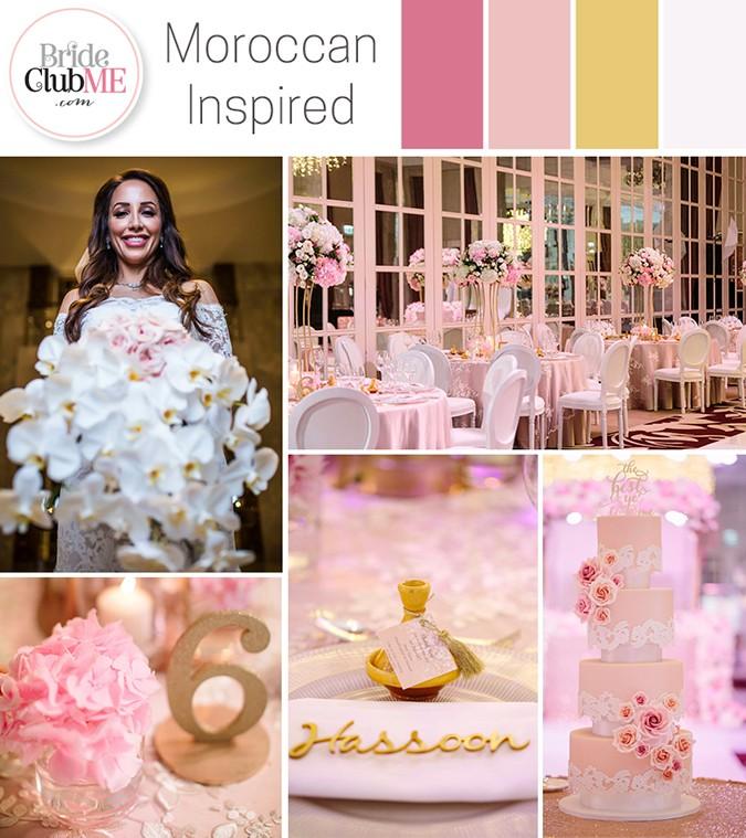 Moroccan Inspired Wedding Colour Scheme