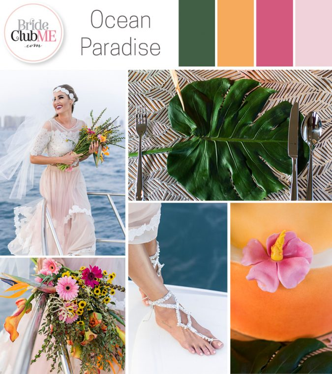Ocean Paradise Wedding Colour Scheme
