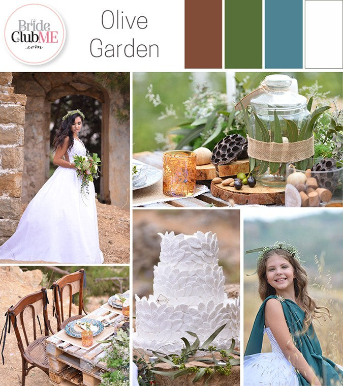 Wedding Colour Scheme { Olive Garden }