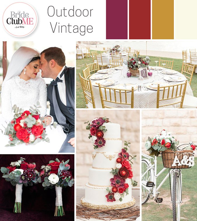 Wedding Colour Scheme { Outdoor Vintage }