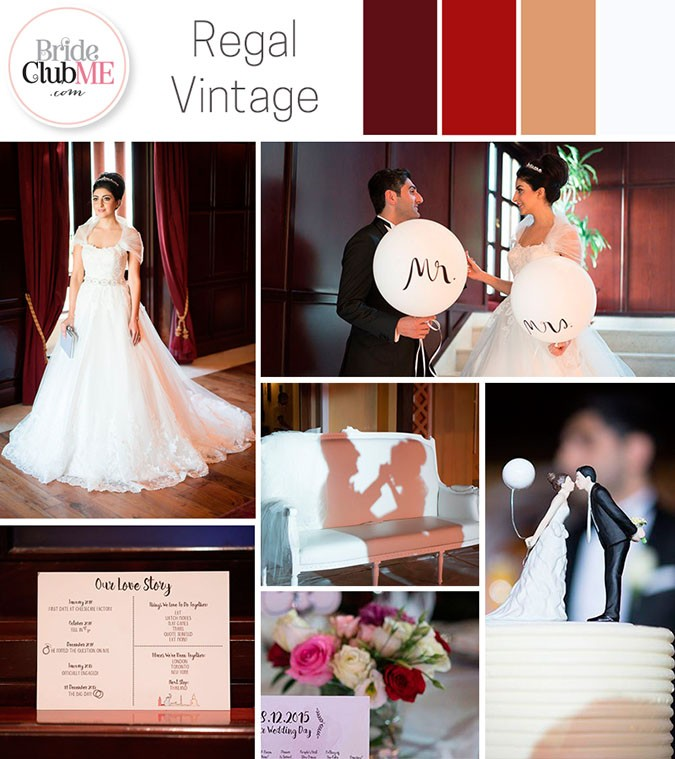 Wedding Colour Scheme { Regal Vintage }
