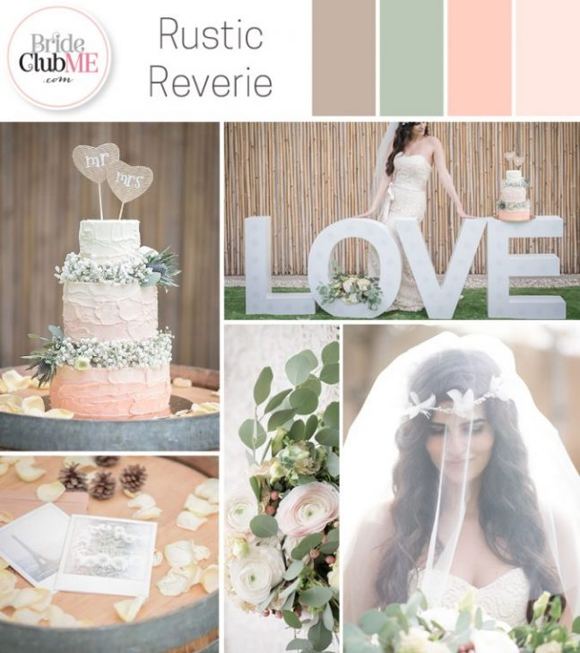 rustic wedding colour scheme