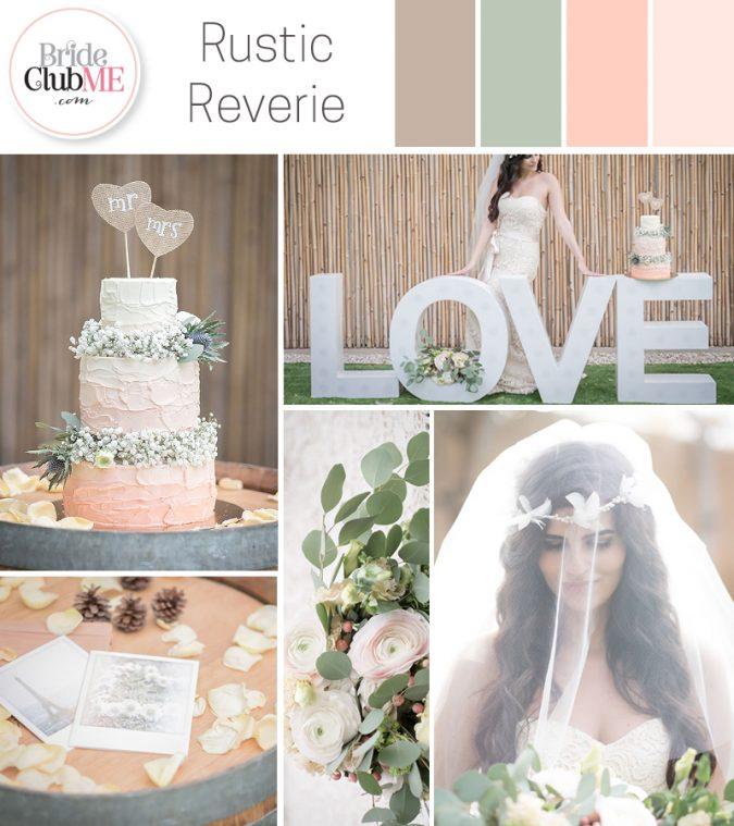 rustic inspired wedding colour scheme