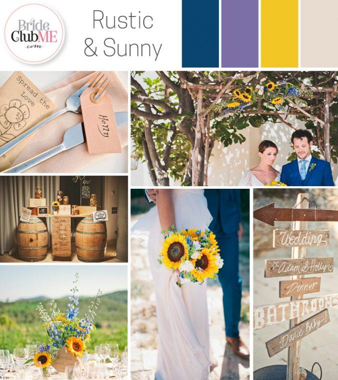 Wedding Colour Scheme { Rustic Sunshine }