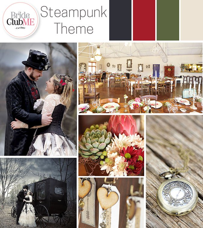 steampunk wedding colour scheme