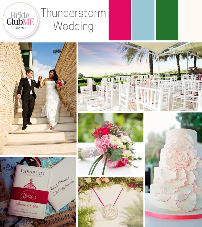 Wedding Colour Scheme { Rio's Dubai Thunderstorm Wedding }