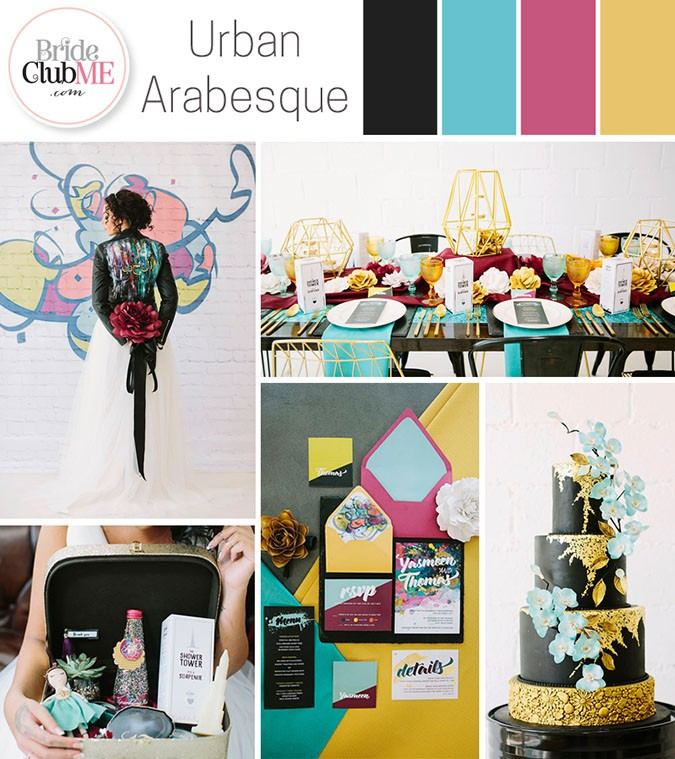 Wedding Colour Scheme { Urban Arabesque }