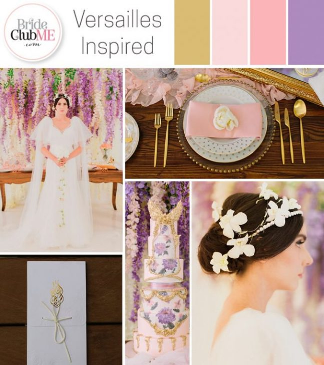 versailles inspired wedding colour scheme