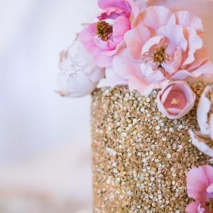 Cake Loft Cake Gold Sparkly Wedding Cake