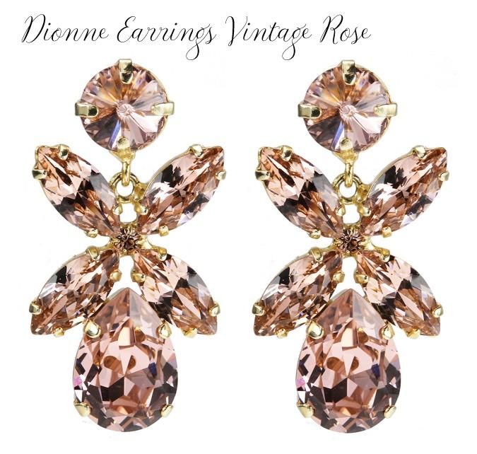 Dione Earrings Vintage Rose
