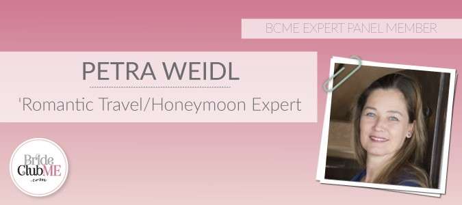 BCME Expert Panel Member and Romantic Travel & Honeymoon Expert, Petra Weidl from Travel Counselors