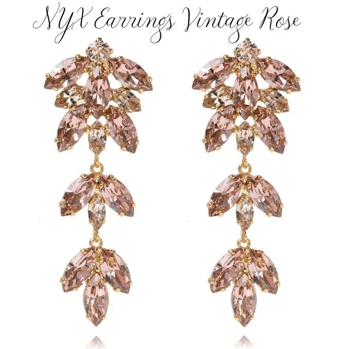 NYX EARRINGS Vintage Rose
