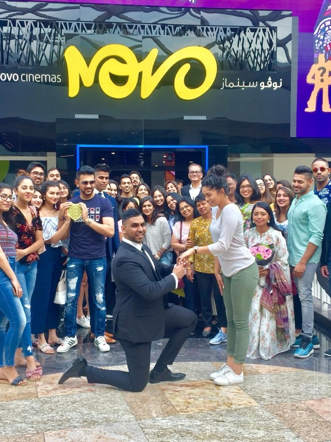 A Surprise Dubai Proposal At Novo Cinemas