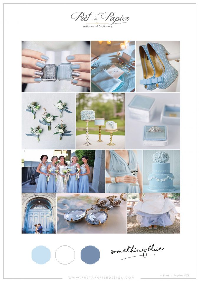 something blue wedding colour scheme