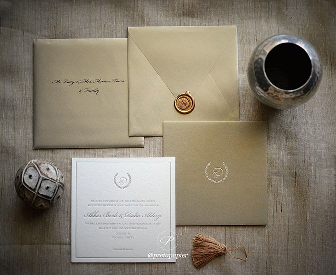 Special Silk paper with custom wax seal