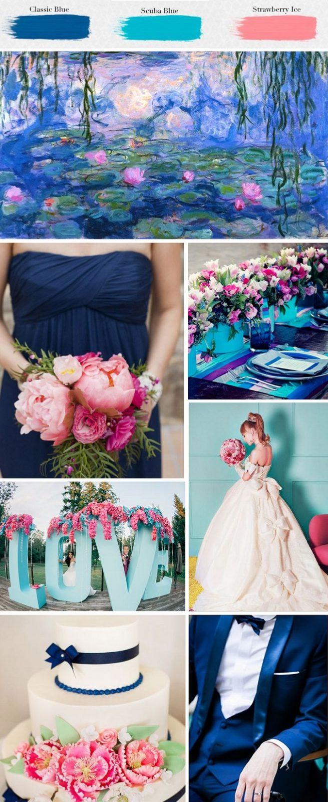 Wedding Colour Scheme {Classic Blue, Scuba Blue