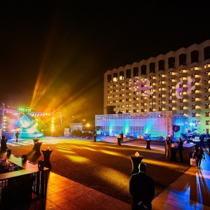 Radisson Blu Deira Creek Outside Lights
