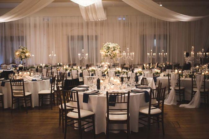 remarkable wedding planners dubai - ballroom set up black and white