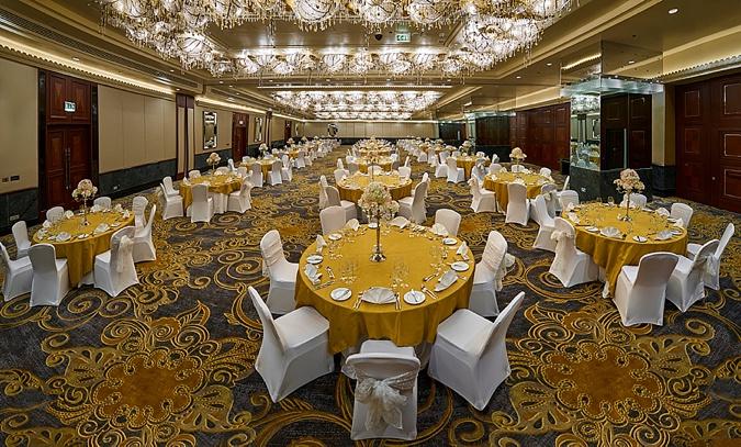 Hotel ballroom.