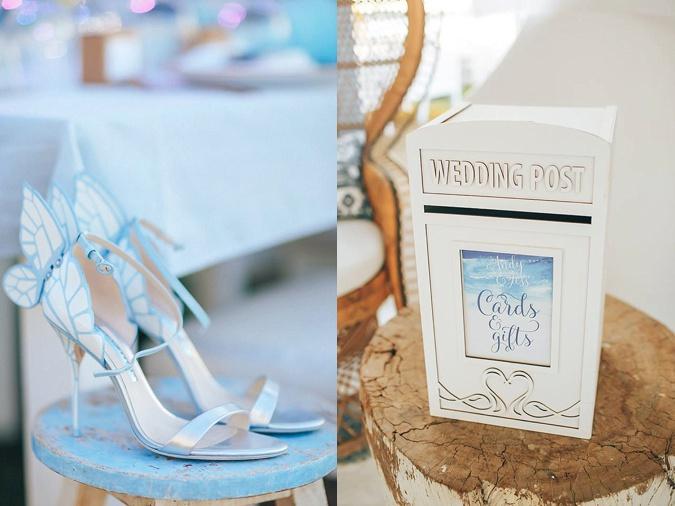 Blue wedding theme.