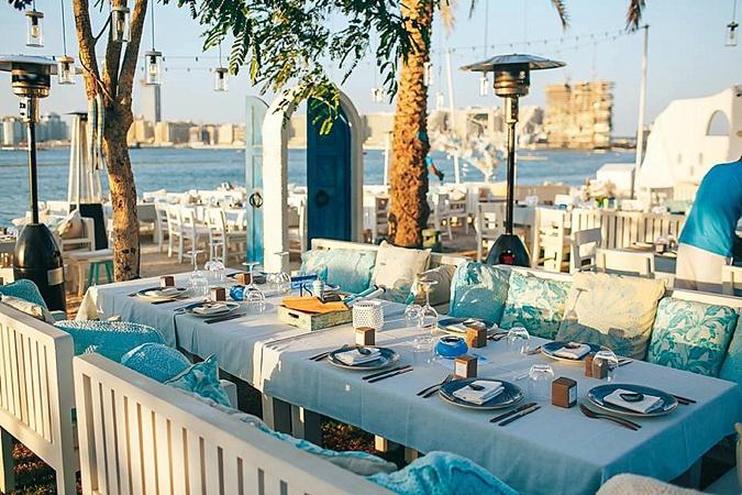 Beach side Dubai restaurant.