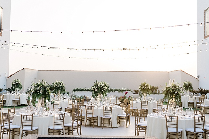 White and green outdoor wedding.