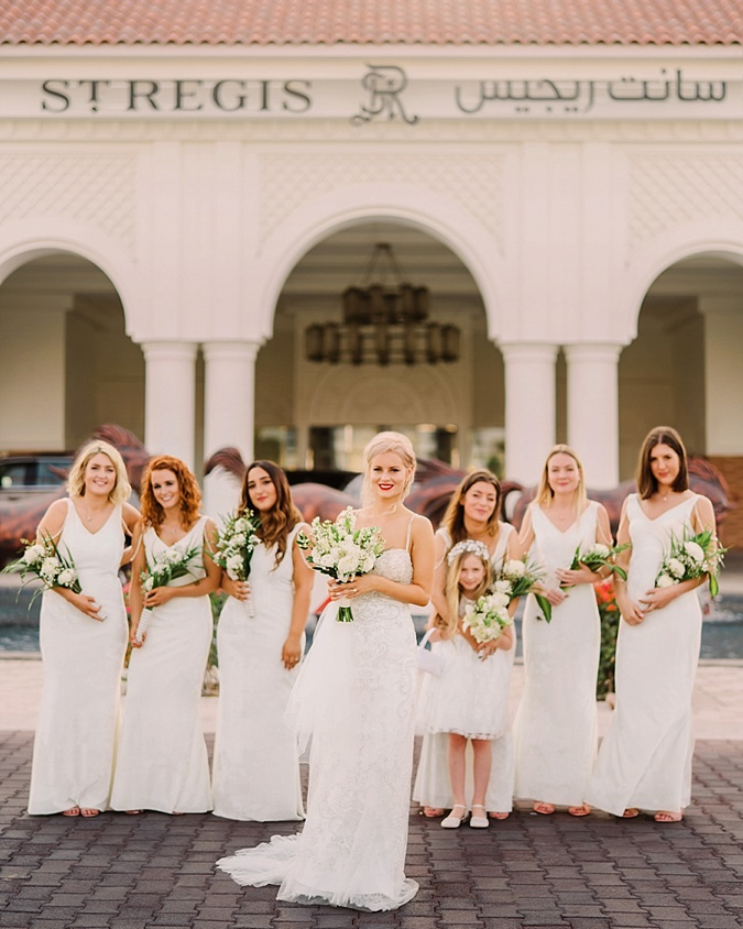 Brides with Bridesmaids.