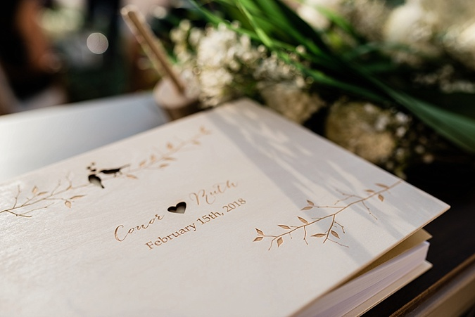 Wedding guest book.