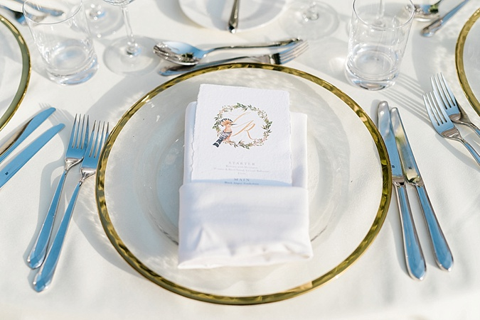 Wedding place setting.