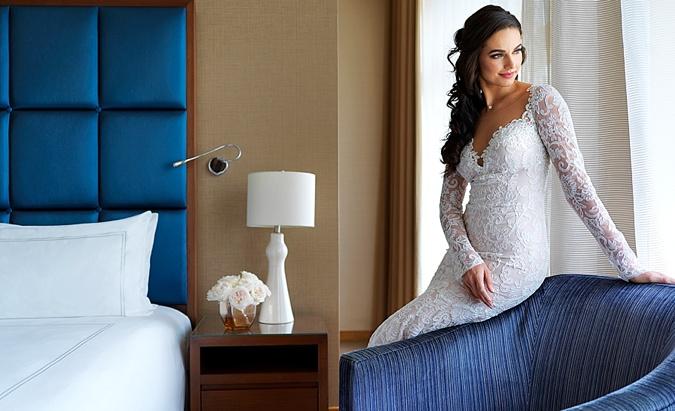 Bride posing.
