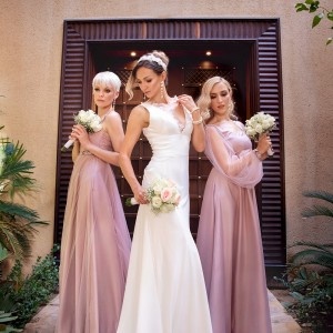 Bride and Bridesmaids gowns by Scissors tailoring studio in UAE
