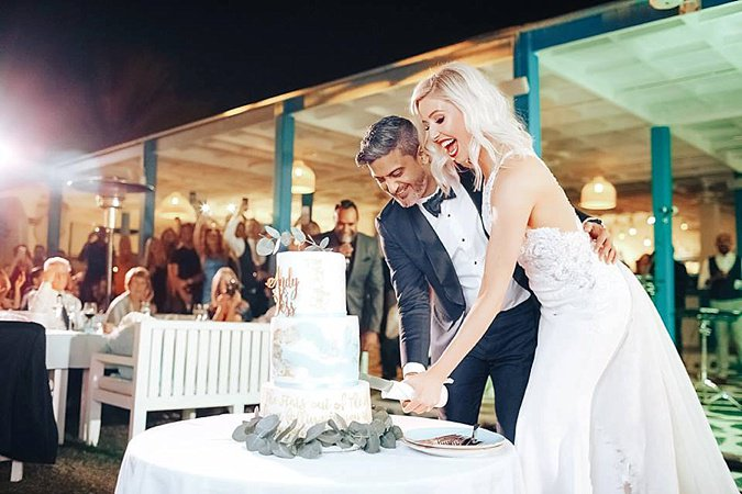 Jessica & Andy's Fairy-Tale Beach Front  Dubai Wedding