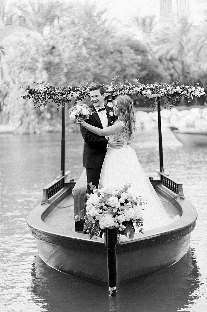 Bride and Groom on a boat.