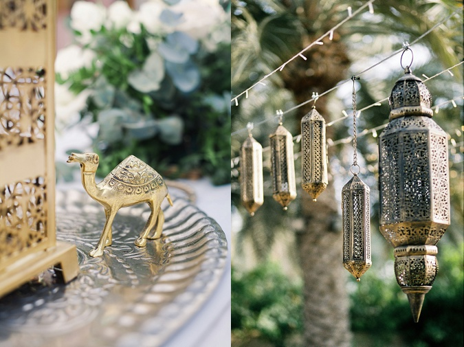 Arabesque outdoor wedding details.
