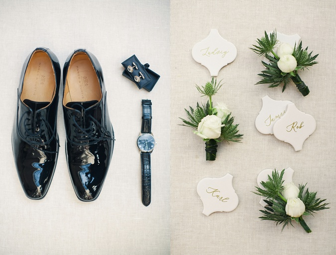 Wedding details flat lay.