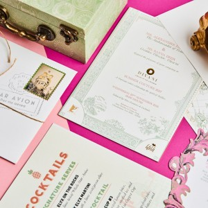 Wedding invitations created by Design Tuk Tuk in Dubai