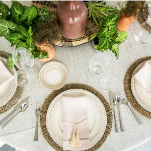 Beaturiful Wedding table settings from Specstyles furniture rentals in Dubai