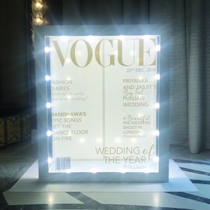 Vogue signage created by Design Tuk Tuk in Dubai