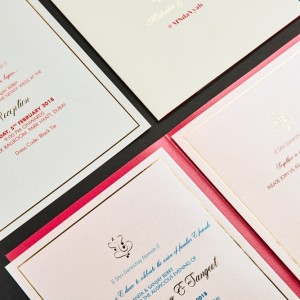 wedding invitation created by Design Tuk Tuk in Dubai