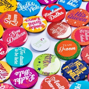 Customized event badges created by Design Tuk Tuk in Dubai