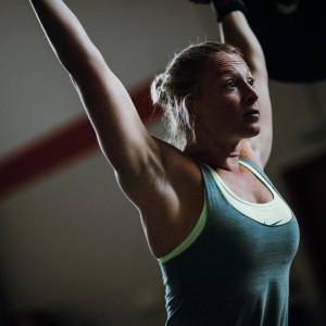 Woman weight training at Crossfit Alioth Dubai
