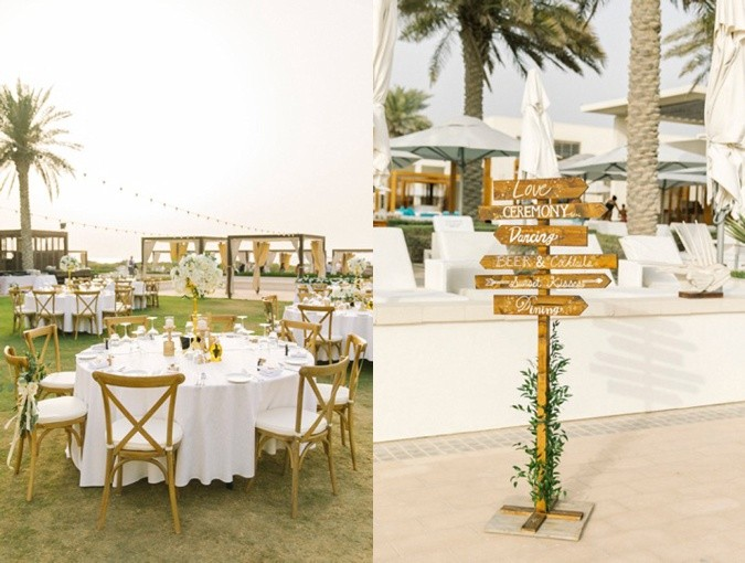 Saadiyat Beach Club wedding set up