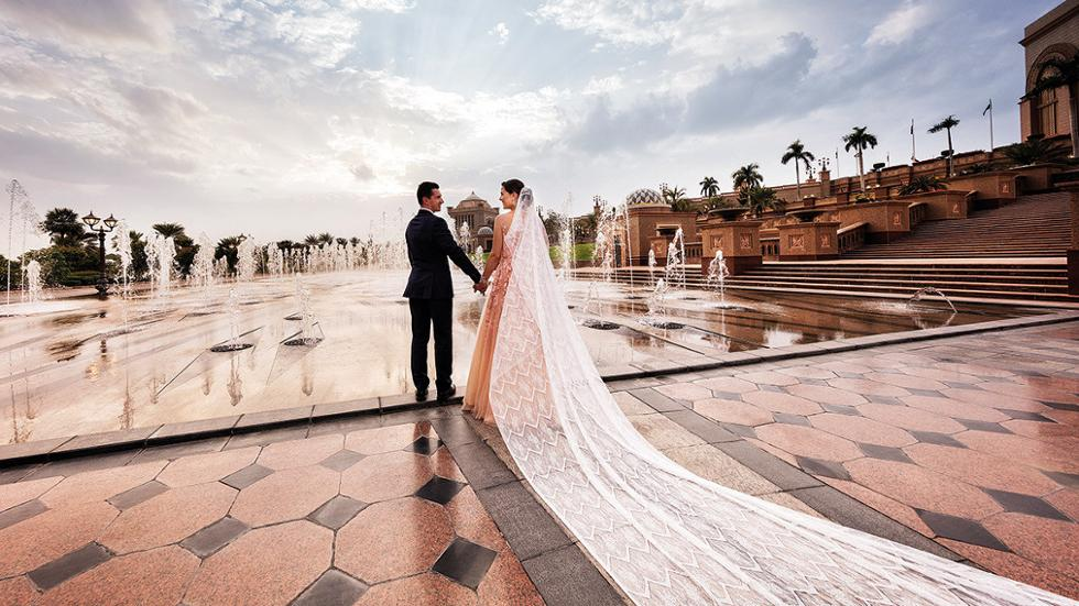Bride and Groom at Emirates Palace
