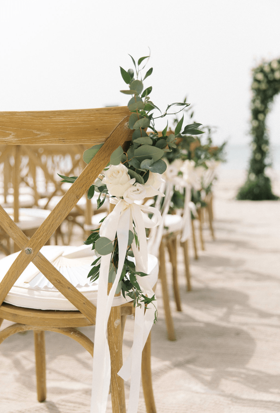 Saadiyat Beach Club wedding blessing chairs