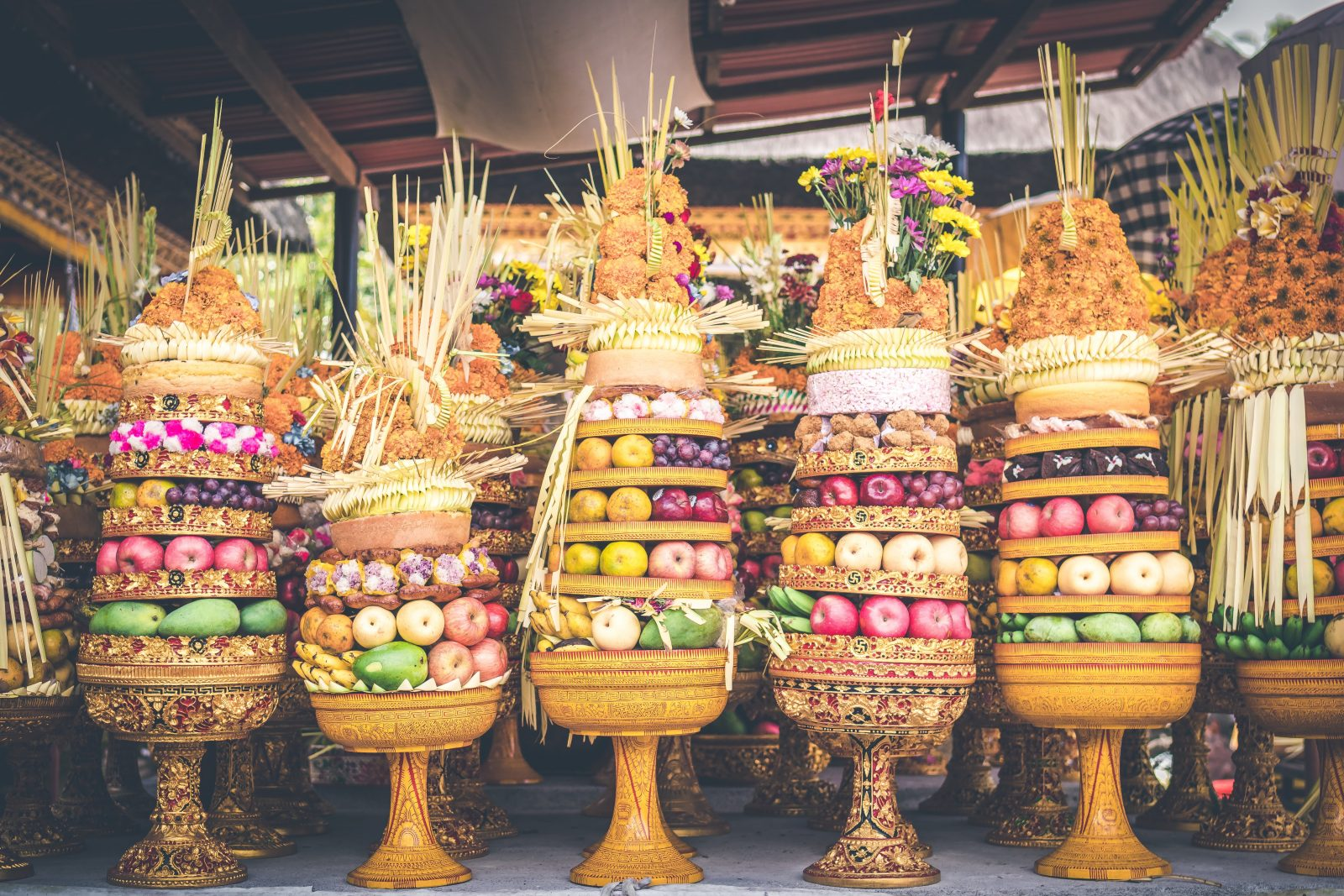Colourful image of street fruit in Bali