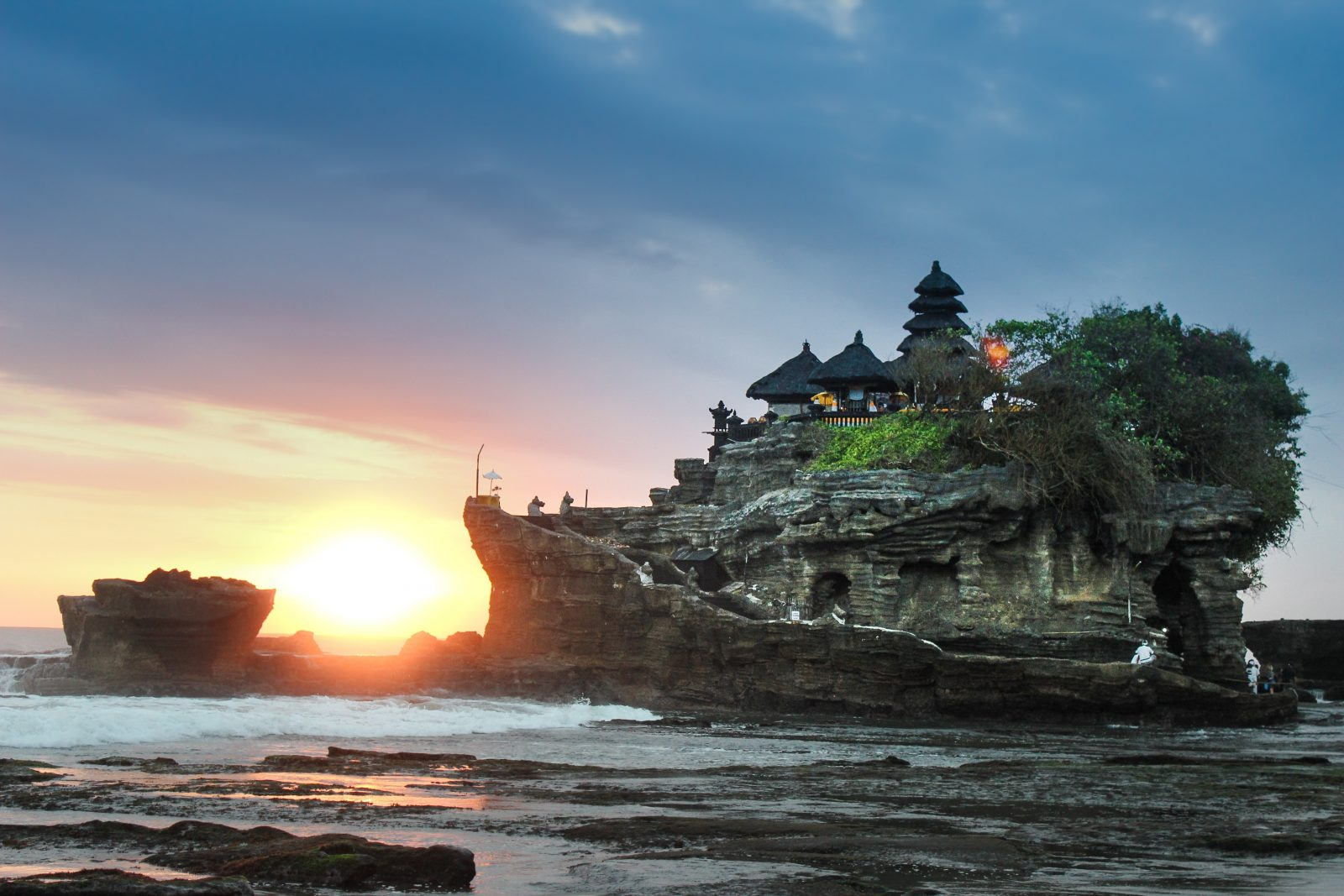 Scenic image of hotel on a rock in Bali