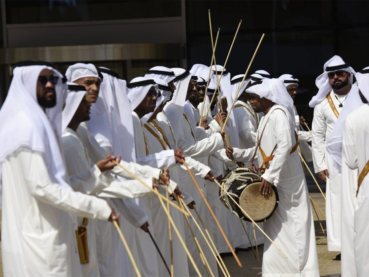 Traditional Emirati band